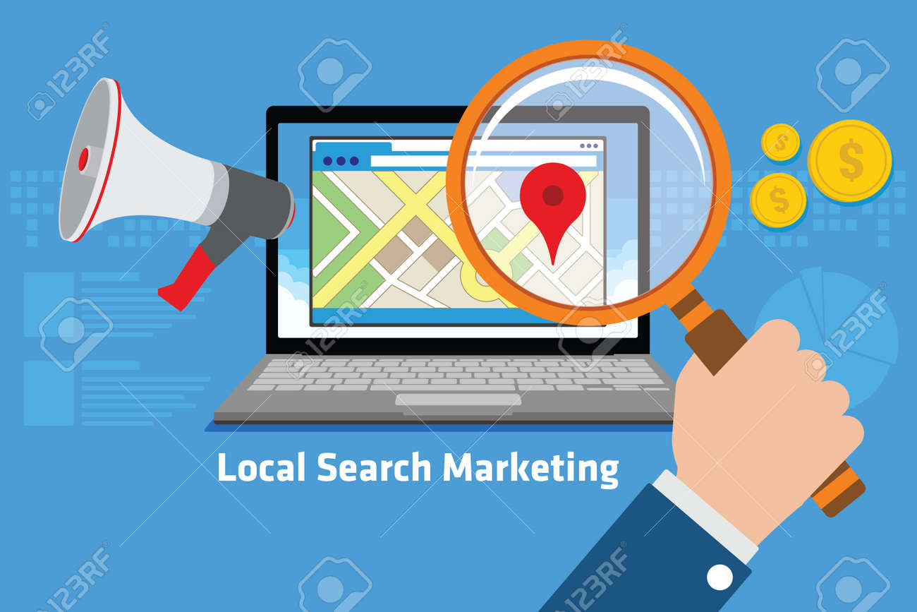 local search marketing vector illustration design concept - 60228971