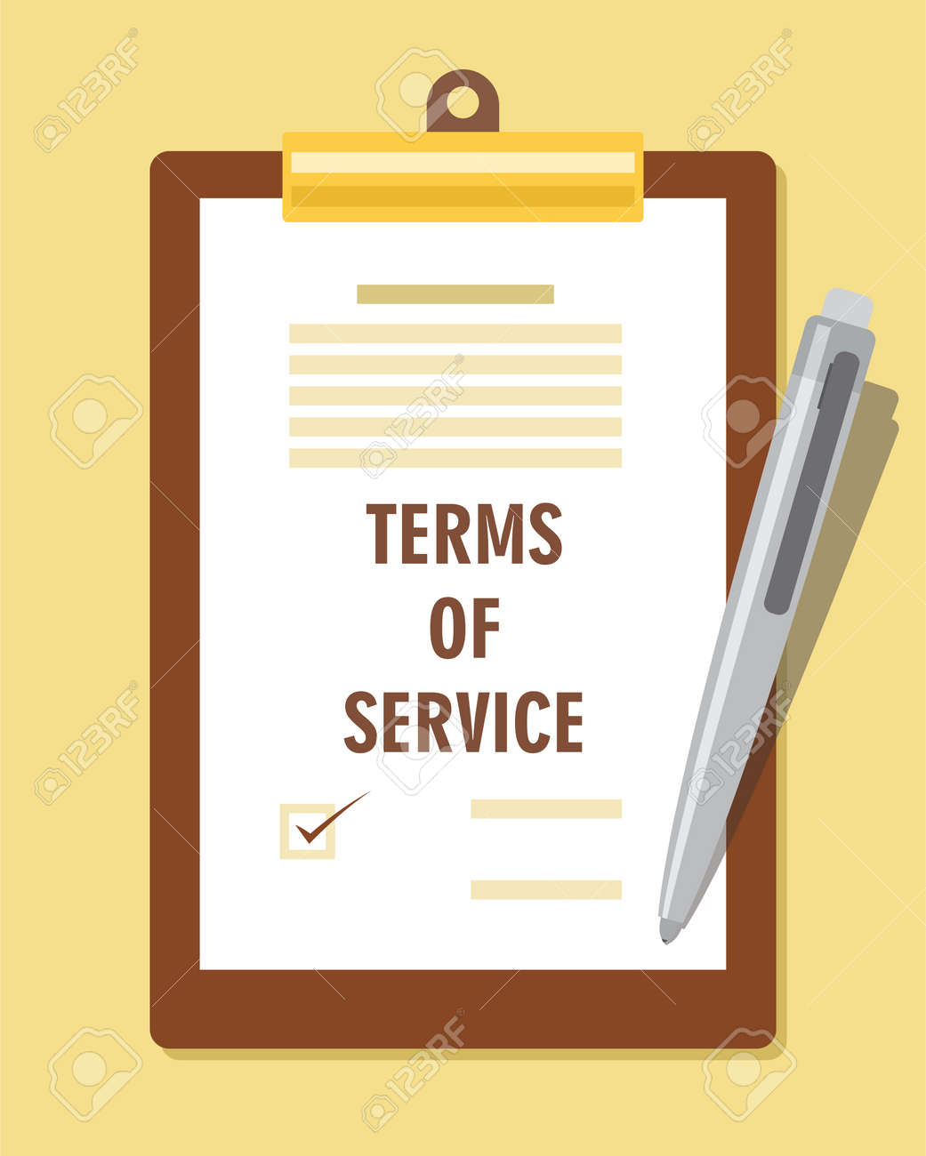 Terms Of Service Agreement Contract Vector Illustration Royalty Free