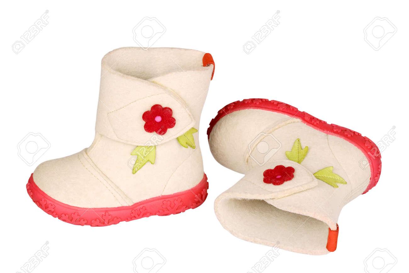 Children s felt boots Stock Photo - 17385460