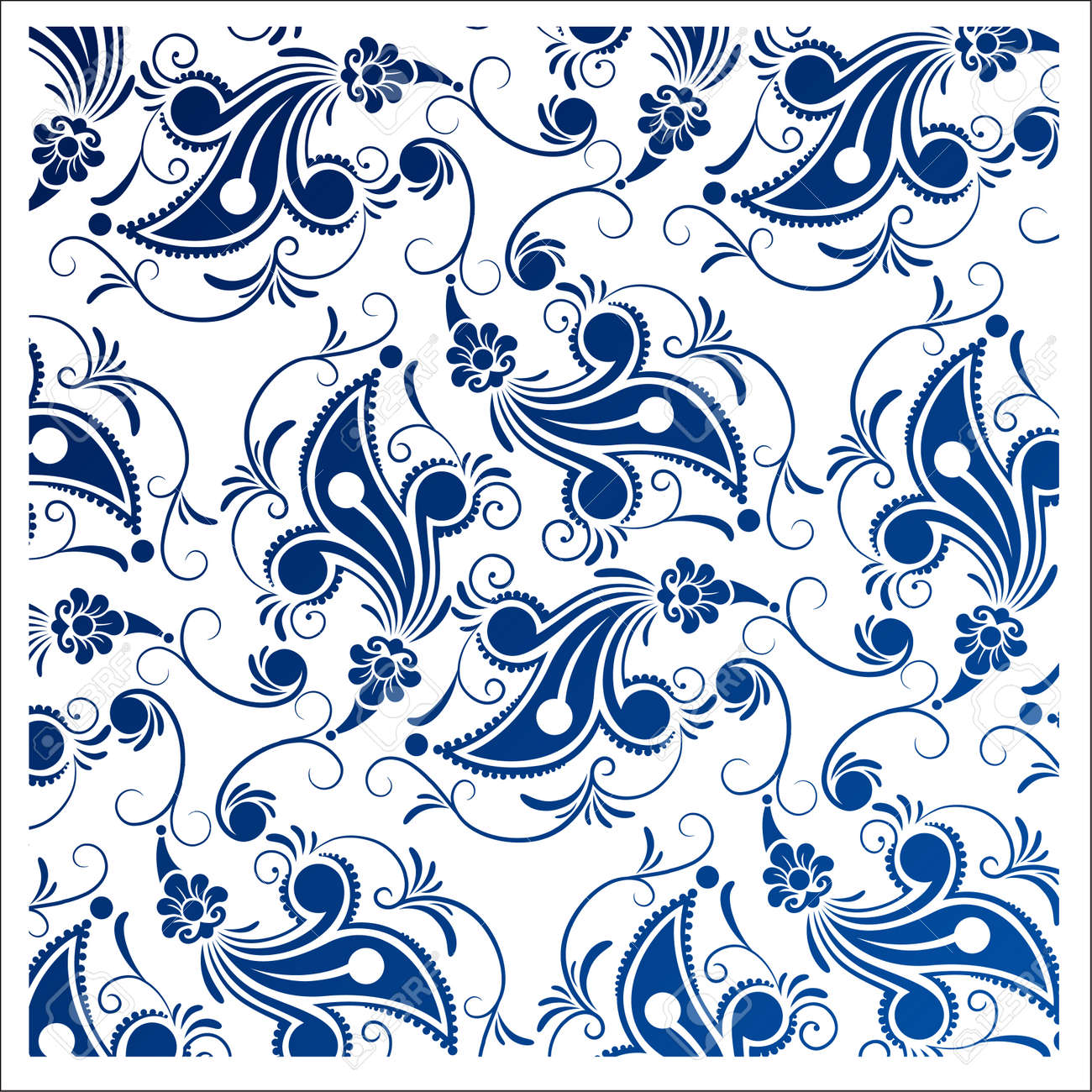 Batik Design Style Patterns Are The Same For Fabric Design