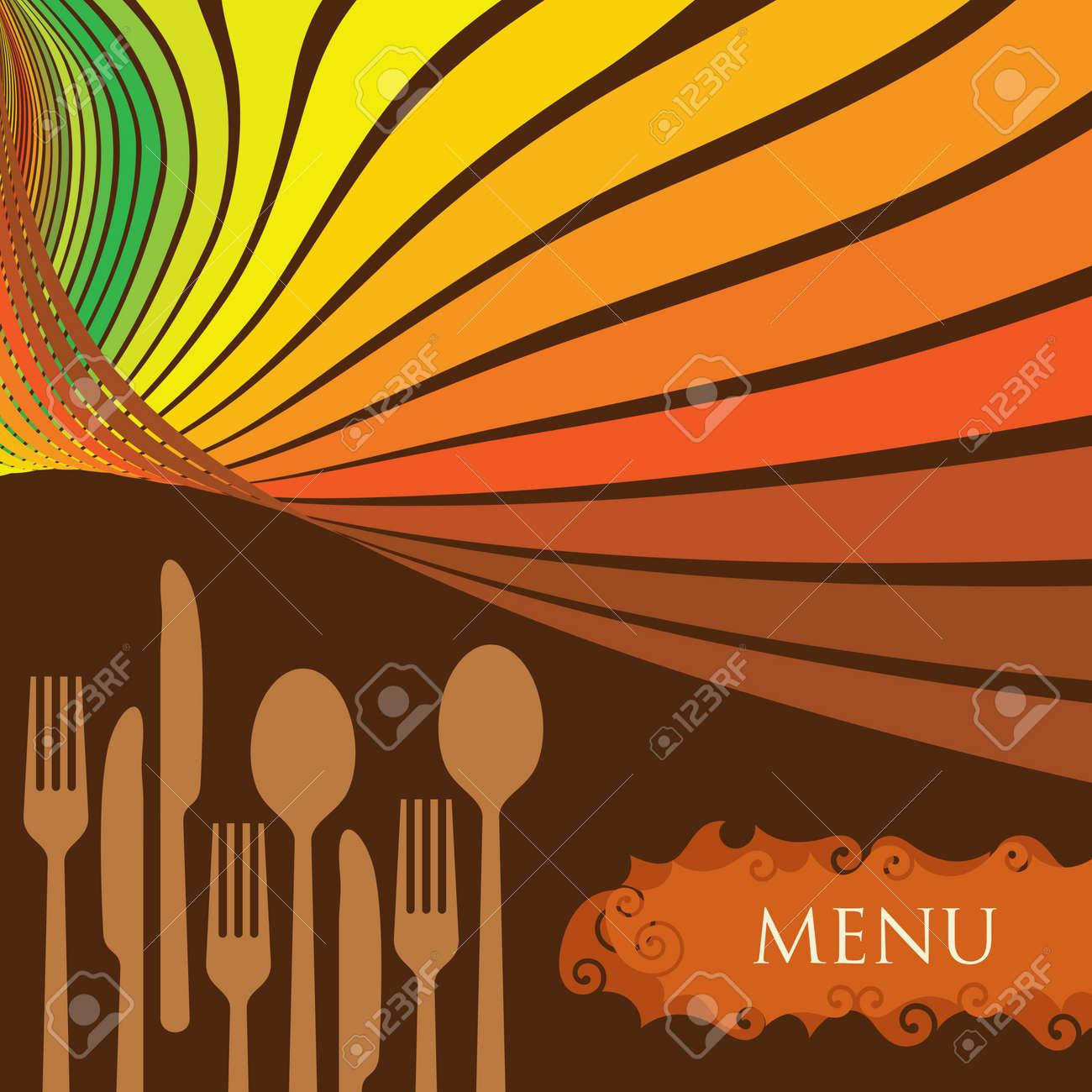 Menú De Restaurante Diseño Diseño De Plantillas - Ilustración ...