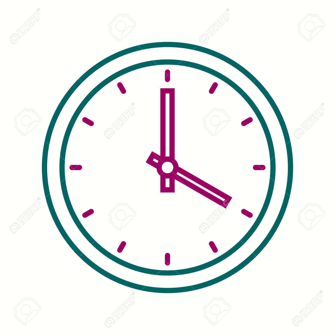 Beautiful Clock Vector line icon - 135151151