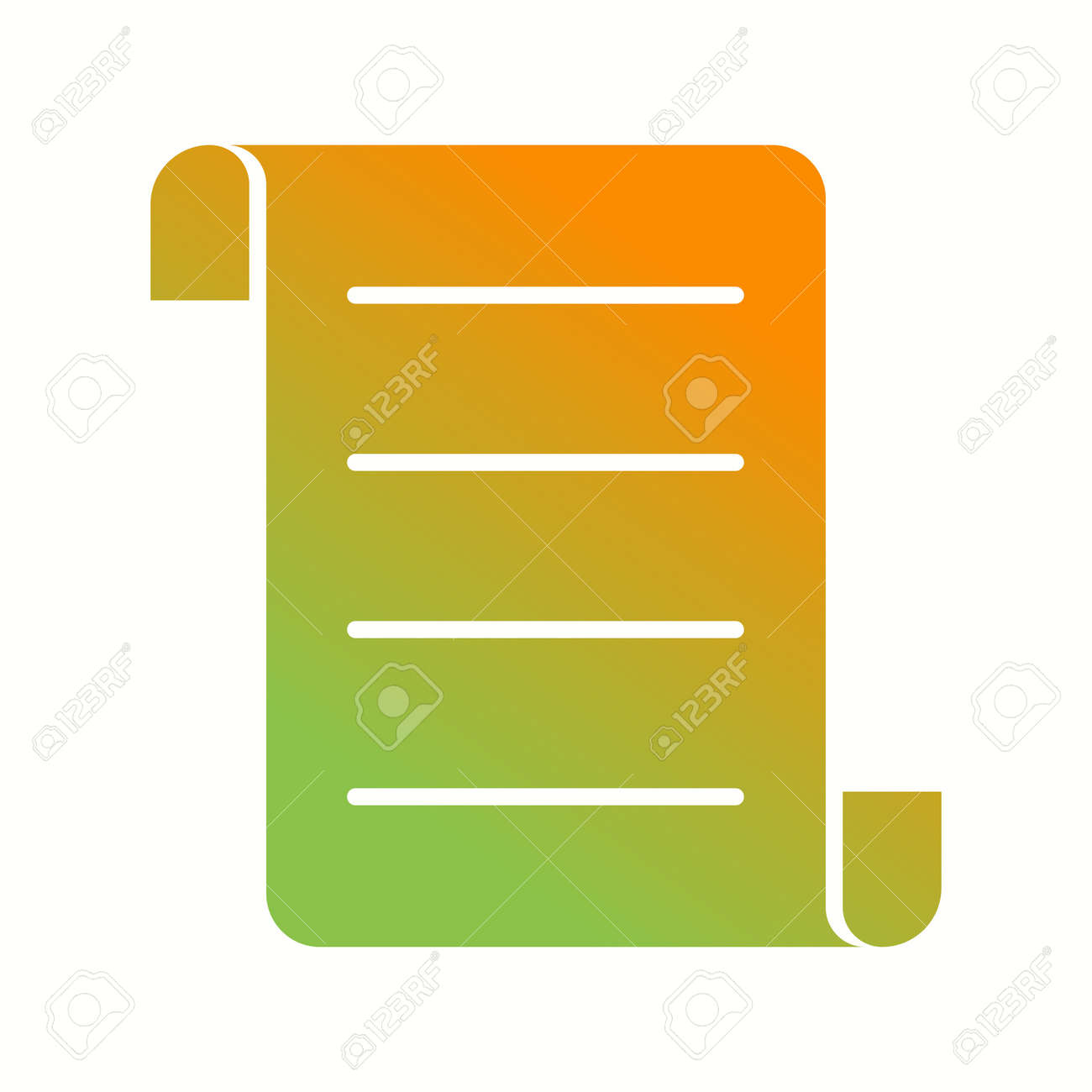 Beautiful Document Vector Glyph Icon - 135990200
