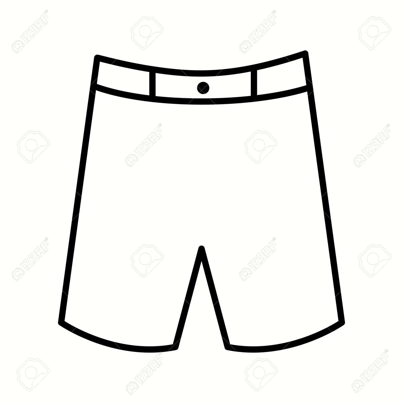 Unique Shorts Vector Line Icon - 137919358