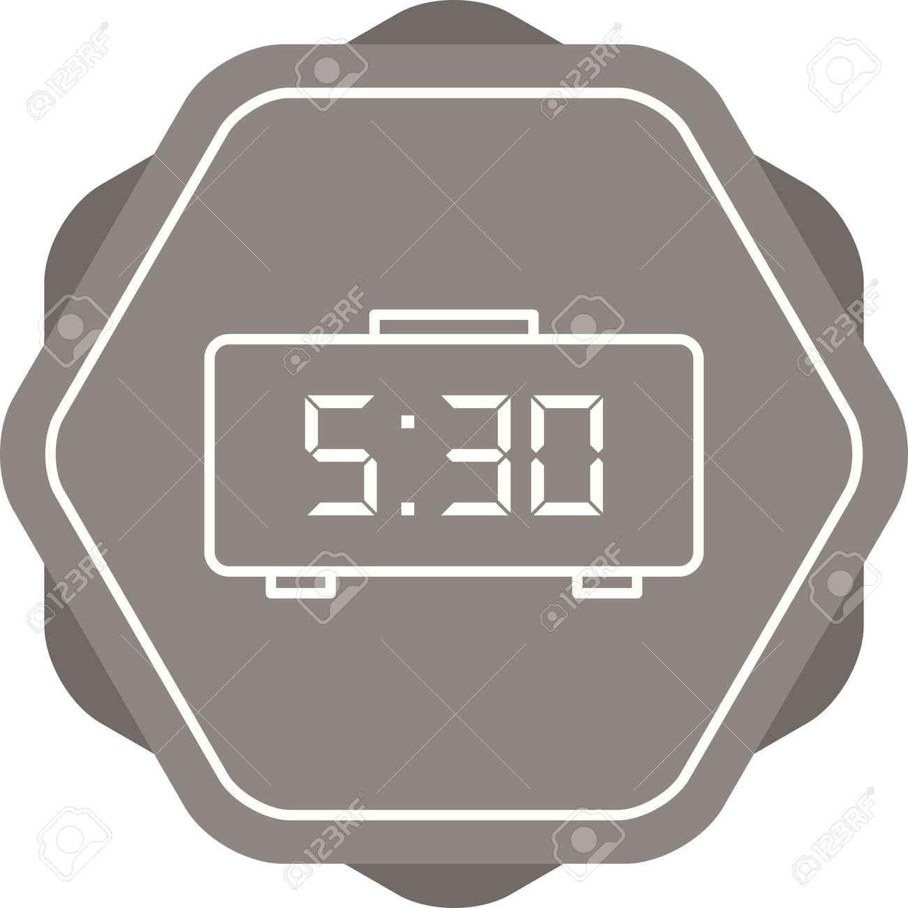 Unique Digital Clock Line Vector Icon Royalty Free Cliparts Vectors And Stock Illustration Image 138364241