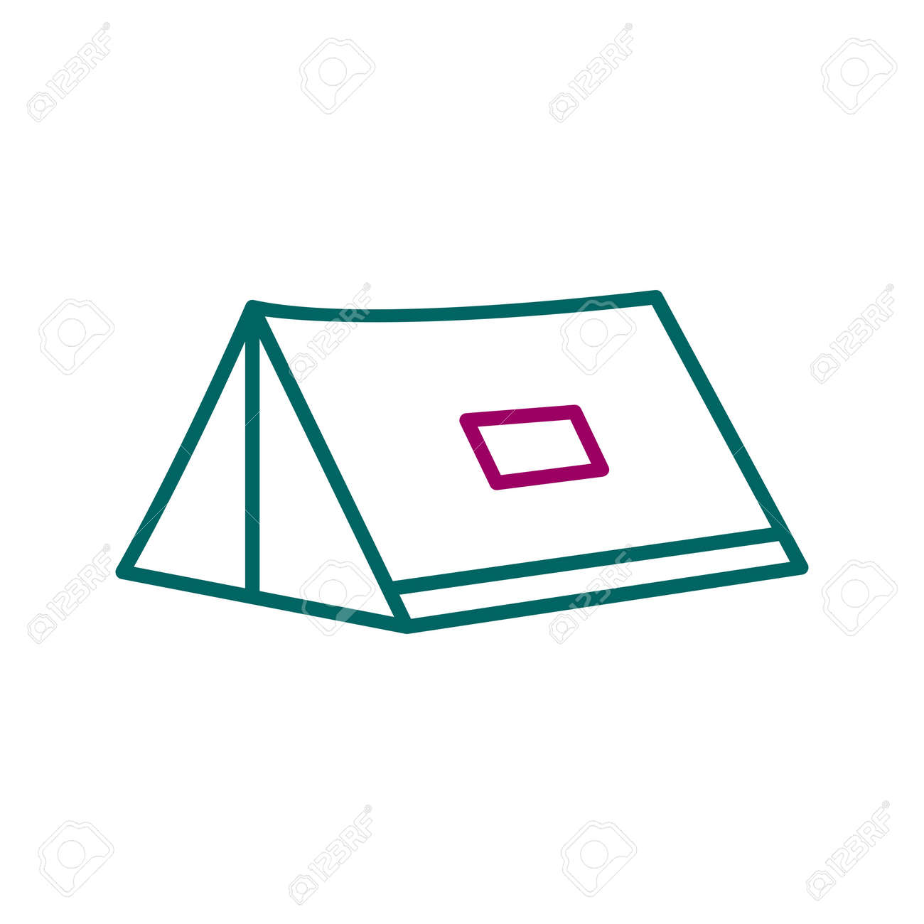 Unique Tent Line Vector Icon - 167962509