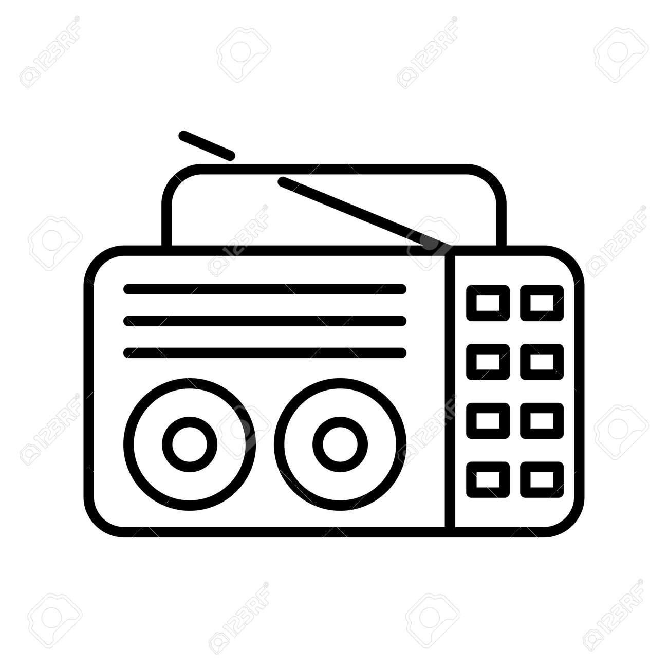 Unique Old Radio Line Vector Icon - 167962515
