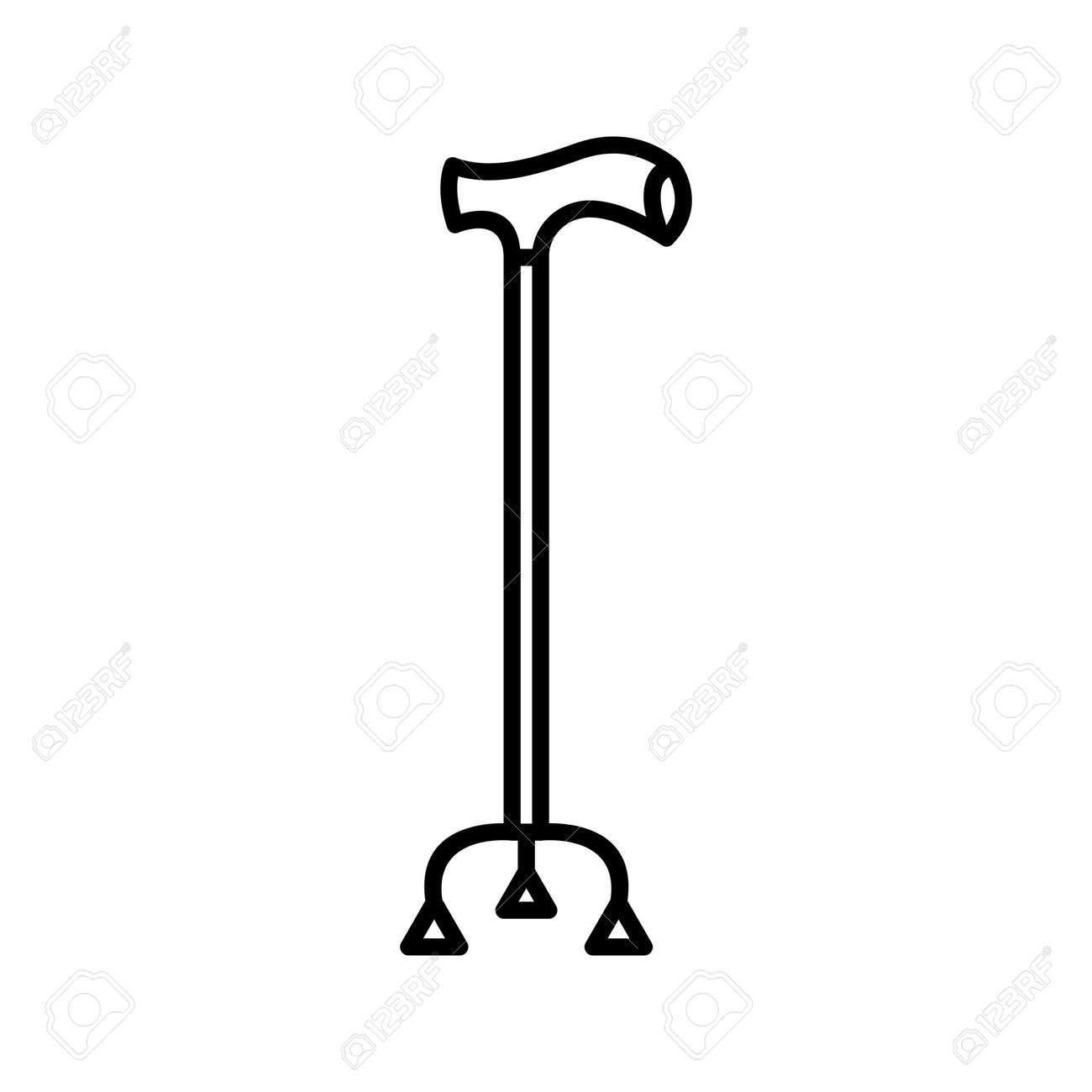 Unique Walking Stick Line Vector Icon - 167962517