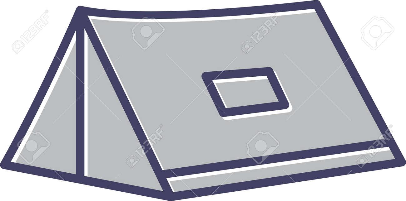 Unique Tent Line Vector Icon - 167962519