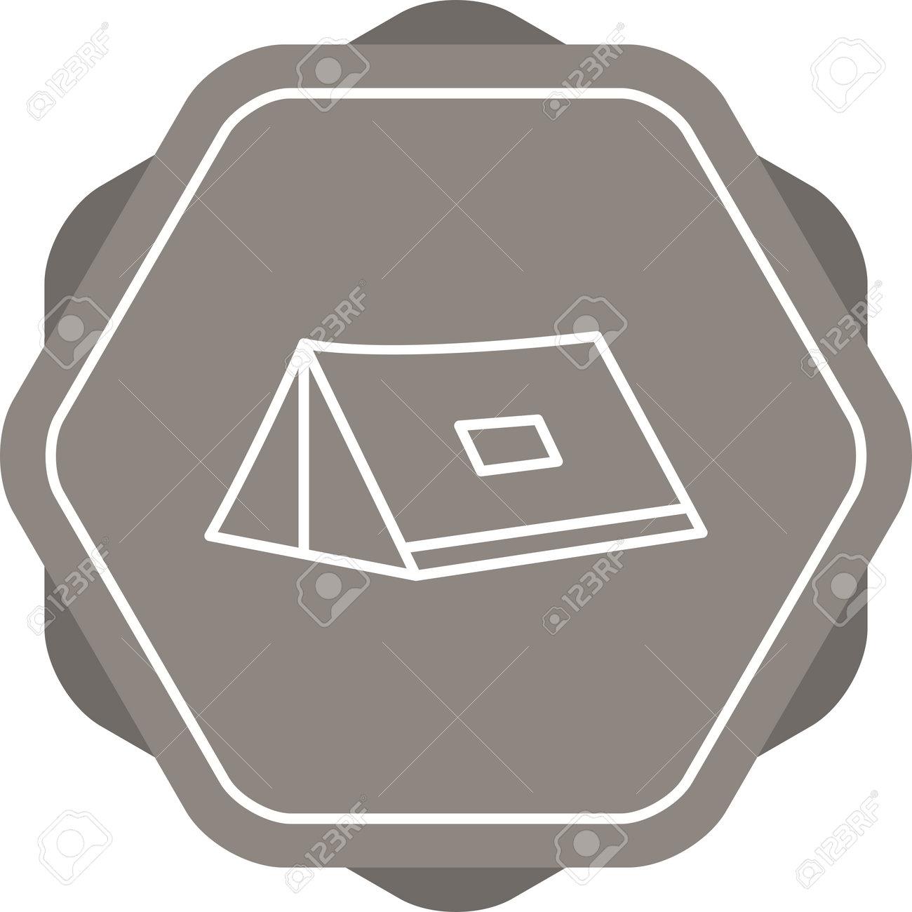 Unique Tent Line Vector Icon - 167962523