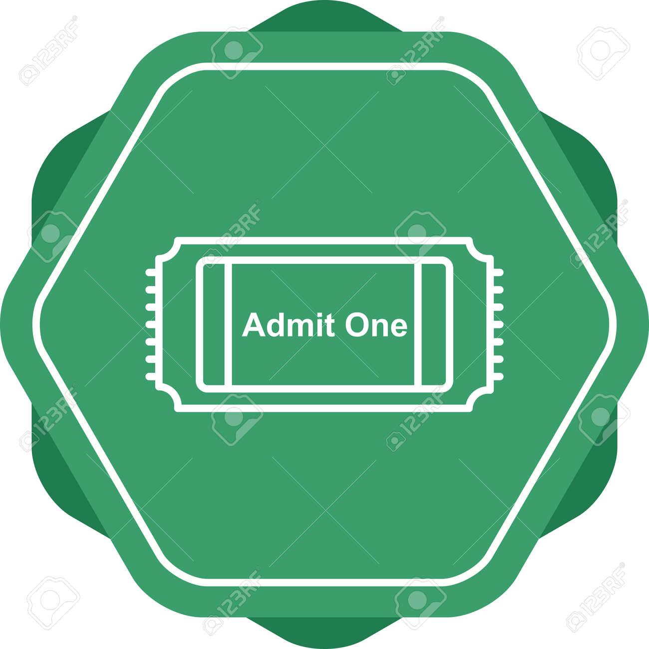 Unique Movie Ticket Line Vector Icon - 167962594
