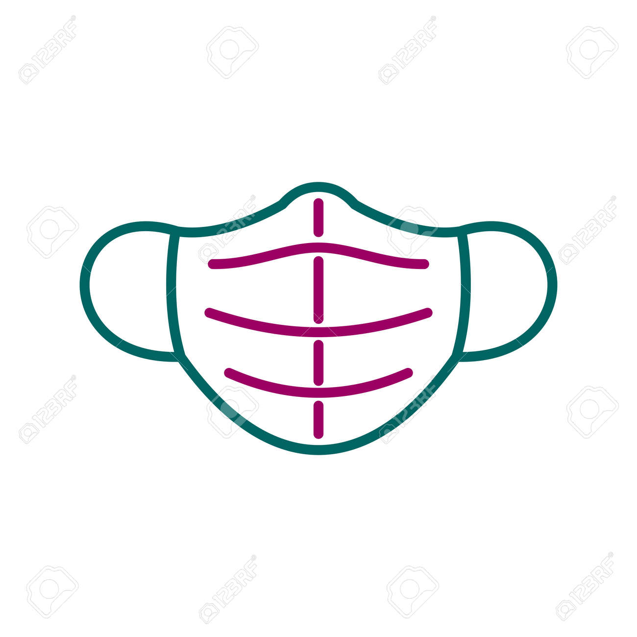 Unique Mask Line Vector Icon - 167962604