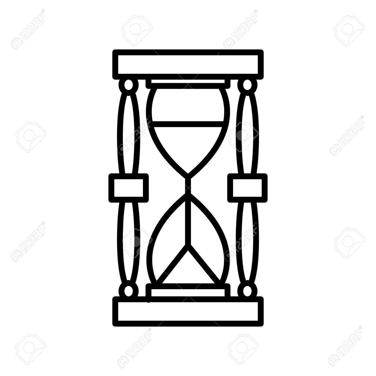 Unique Sand Glass Line Vector Icon - 167962609
