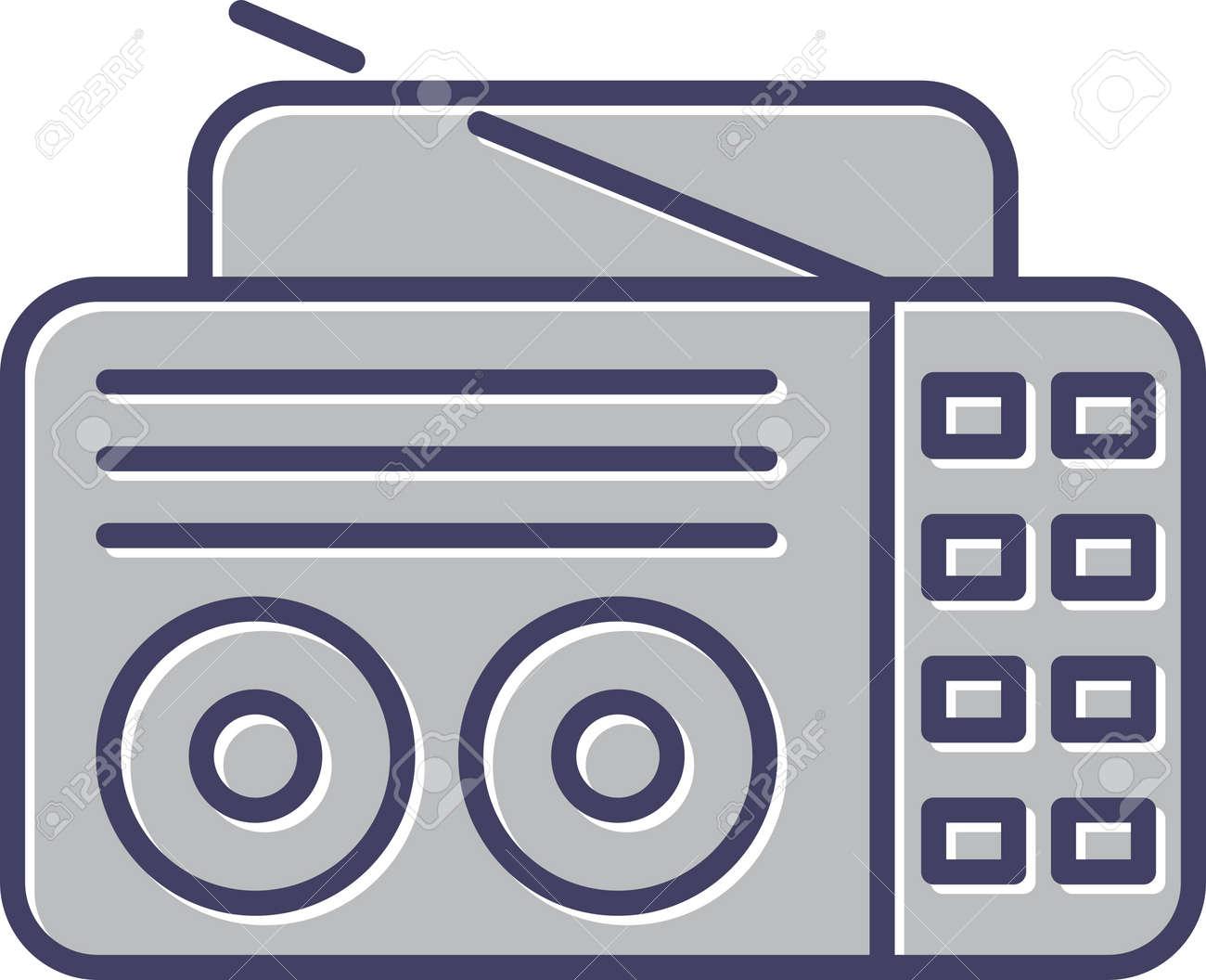 Unique Old Radio Line Vector Icon - 167962650