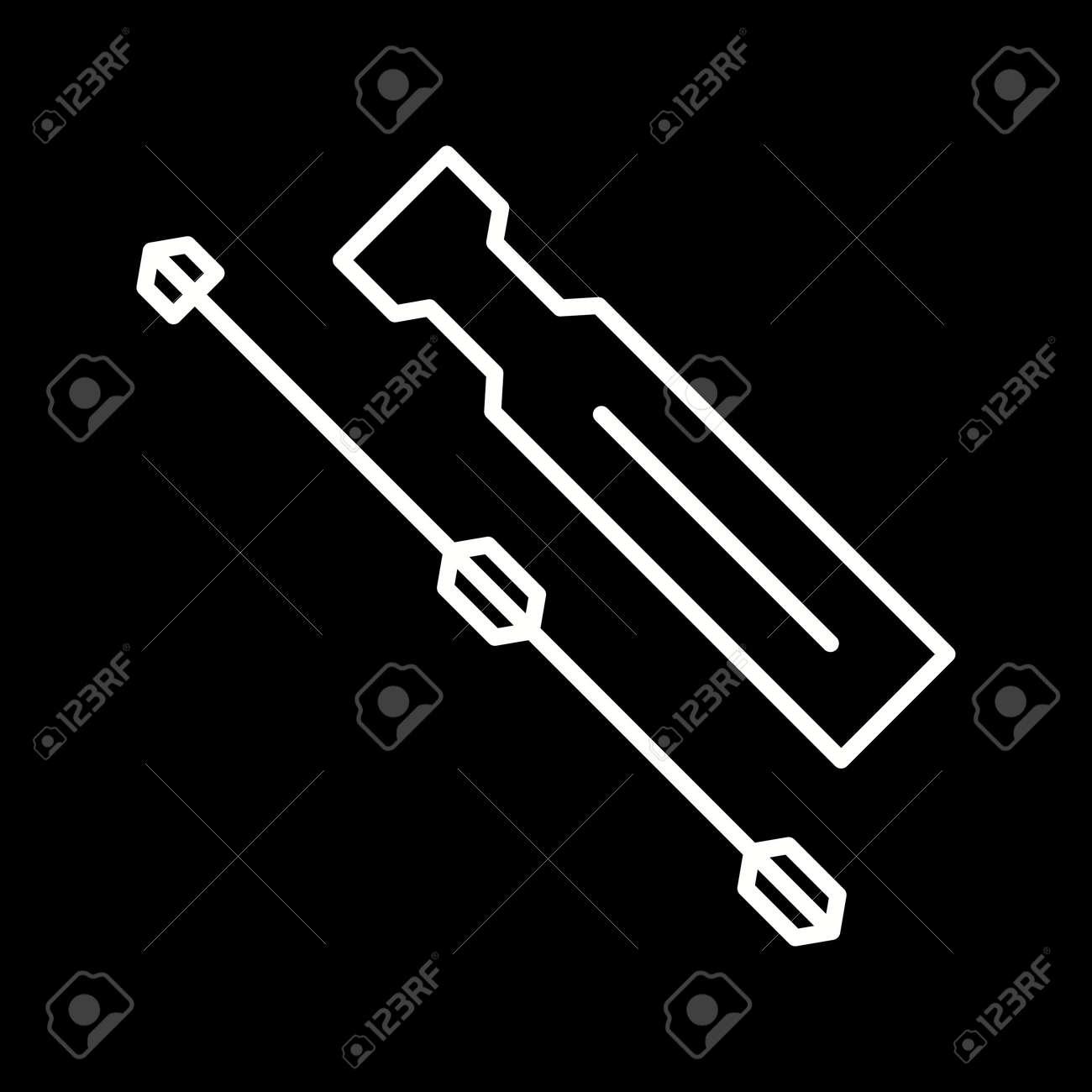 Unique Screwdriver Line Vector Icon - 167962653