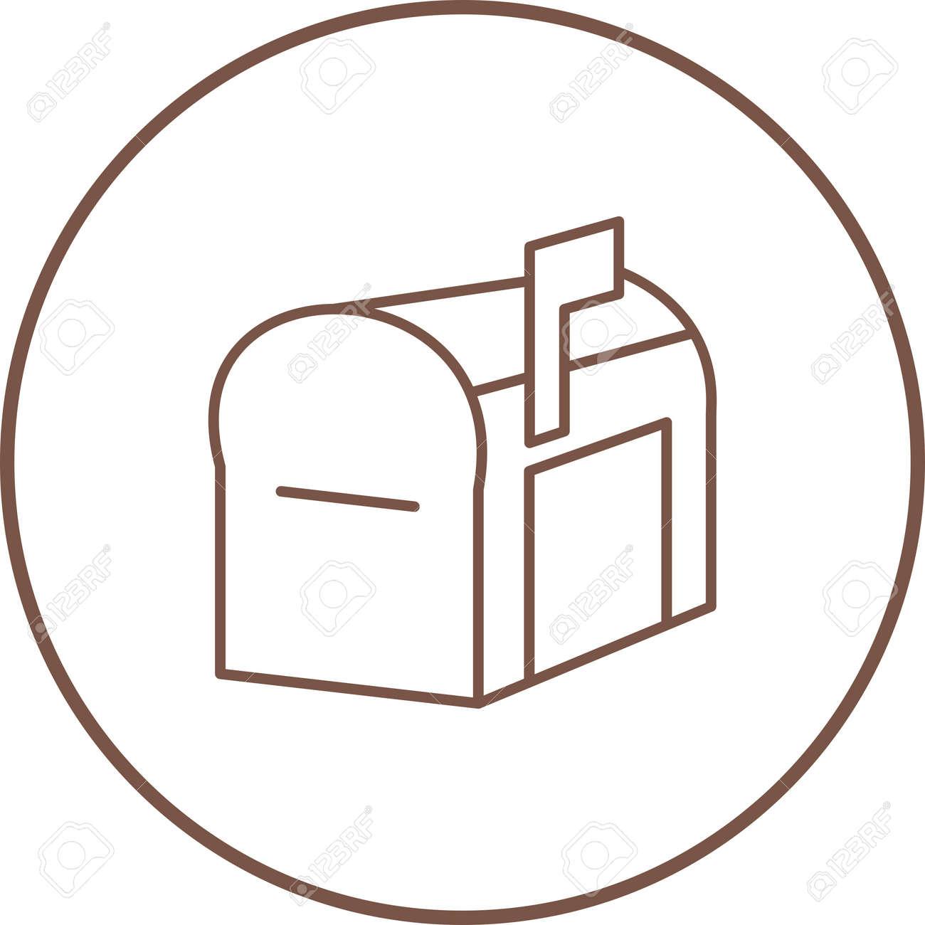 Unique Mailbox Line Vector Icon - 167962657