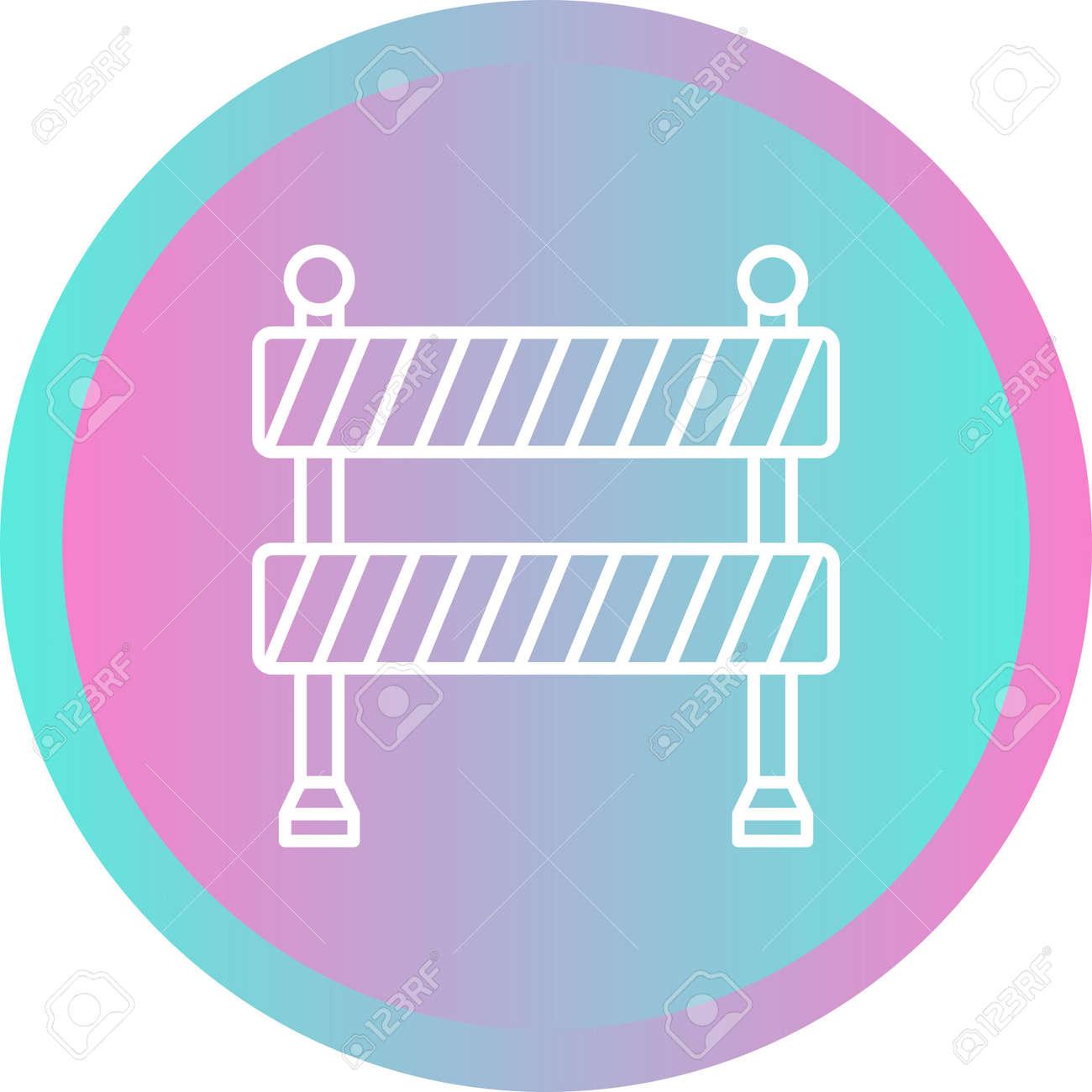 Unique Barricade Line Vector Icon - 167962659
