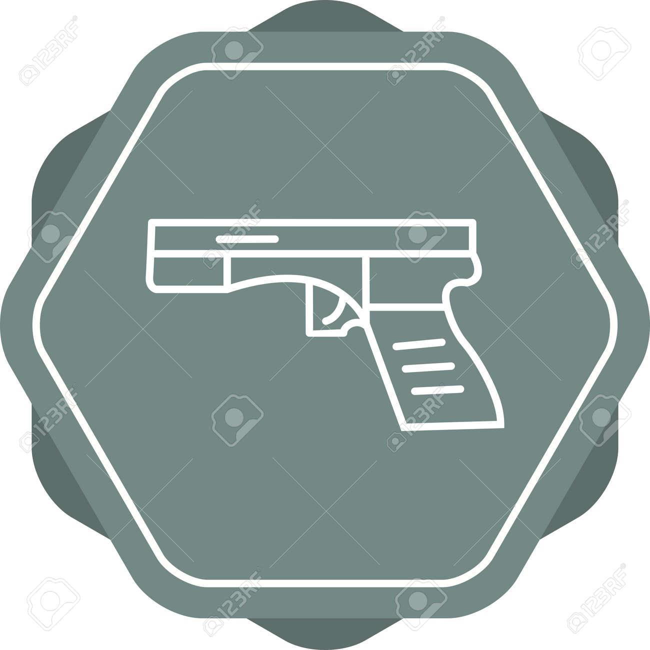Unique Gun Line Vector Icon - 167962662
