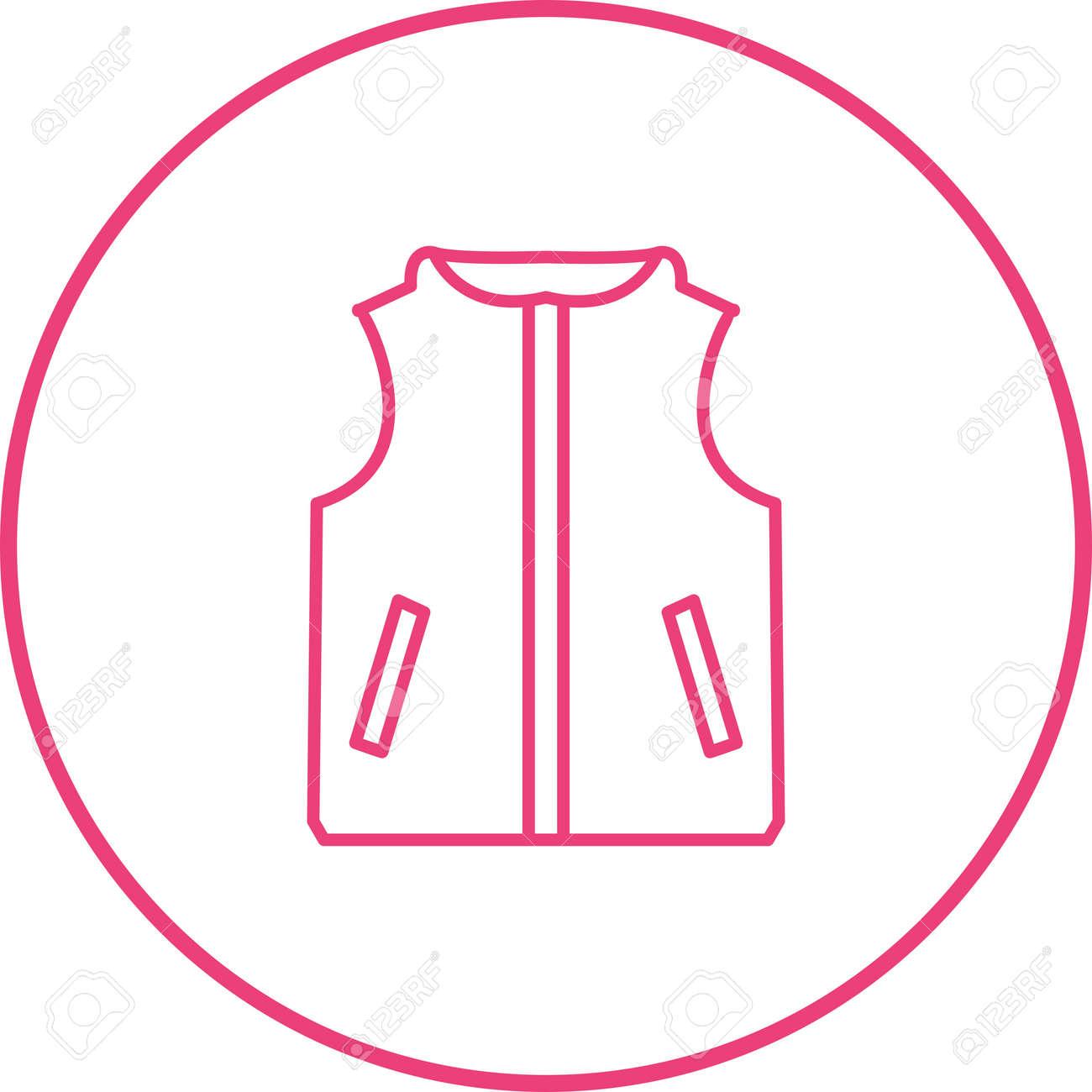 Unique Vest Line Vector Icon - 167962668