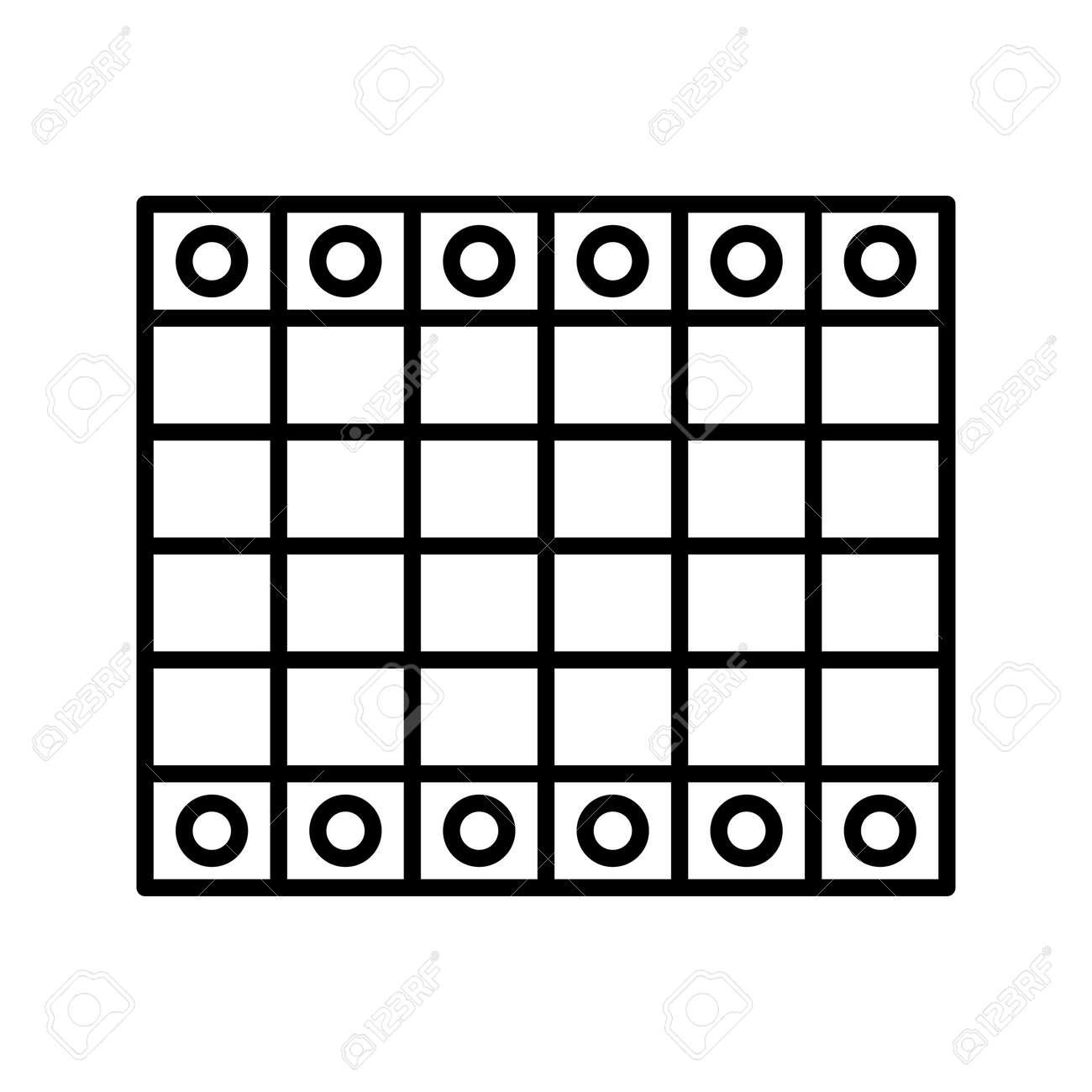 Unique Chessboard Line Vector Icon - 167962674