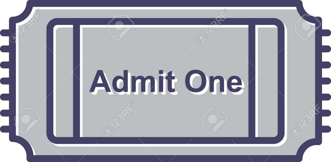 Unique Movie Ticket Line Vector Icon - 167962765
