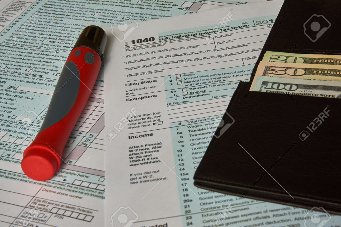 Tax Form 1040 Stock Photo Picture And Royalty Free Image Image
