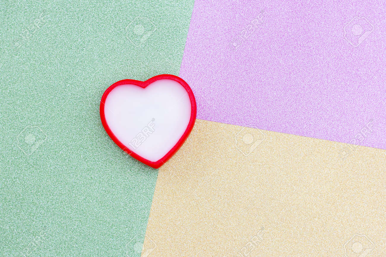 Heart On Colorful Background Romantic Love Background For
