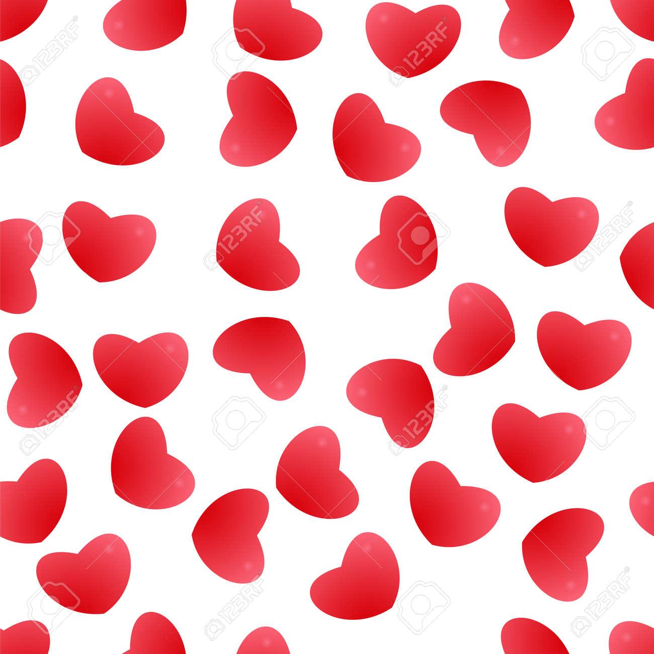 Sfondo Di Cuori Rossi Modello Senza Soluzione Di Continuità Per Biglietti Di Auguri Matrimonio Compleanno Congratulazioni Festa Illustrazione