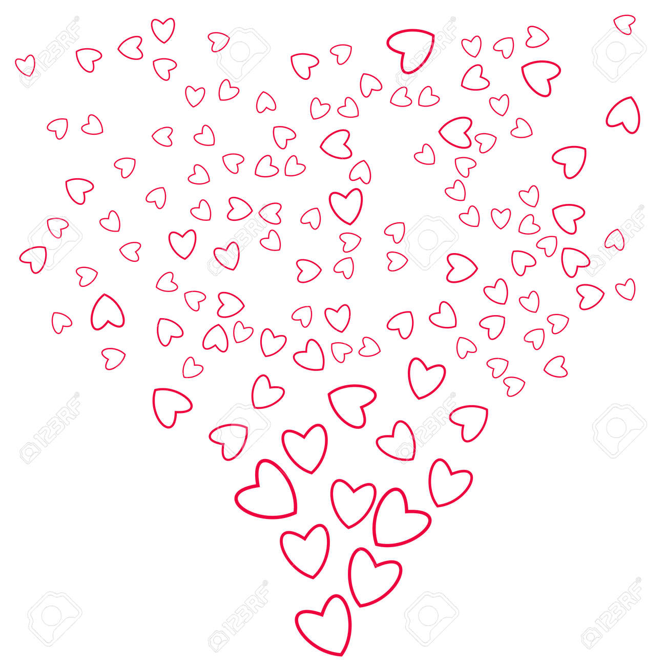 Abstract Love Background Of Little Hearts For Invitation Cards