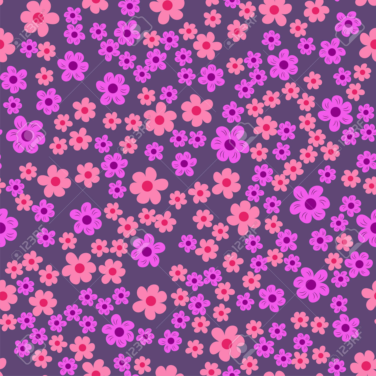 Abstract seamless pattern of flowers on a purple background abstract seamless pattern of flowers on a purple background for prints cards invitations izmirmasajfo