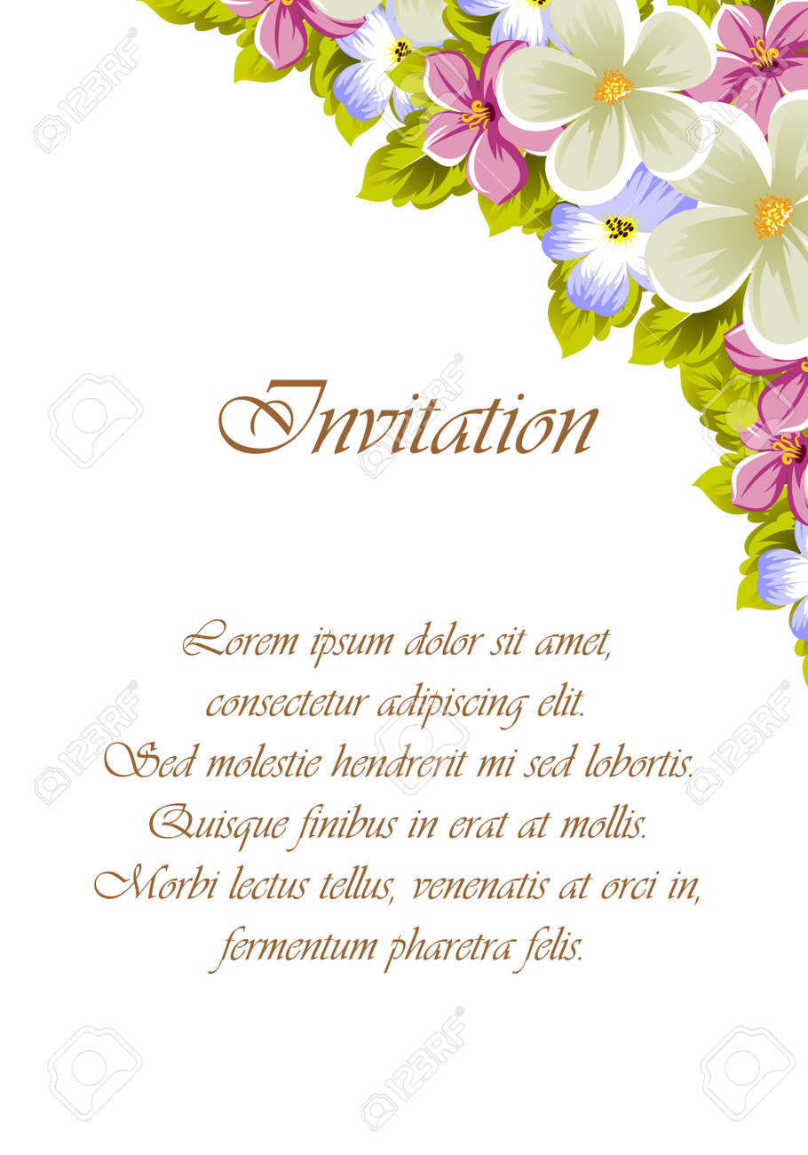 Invitation Card Idea With Floral Design