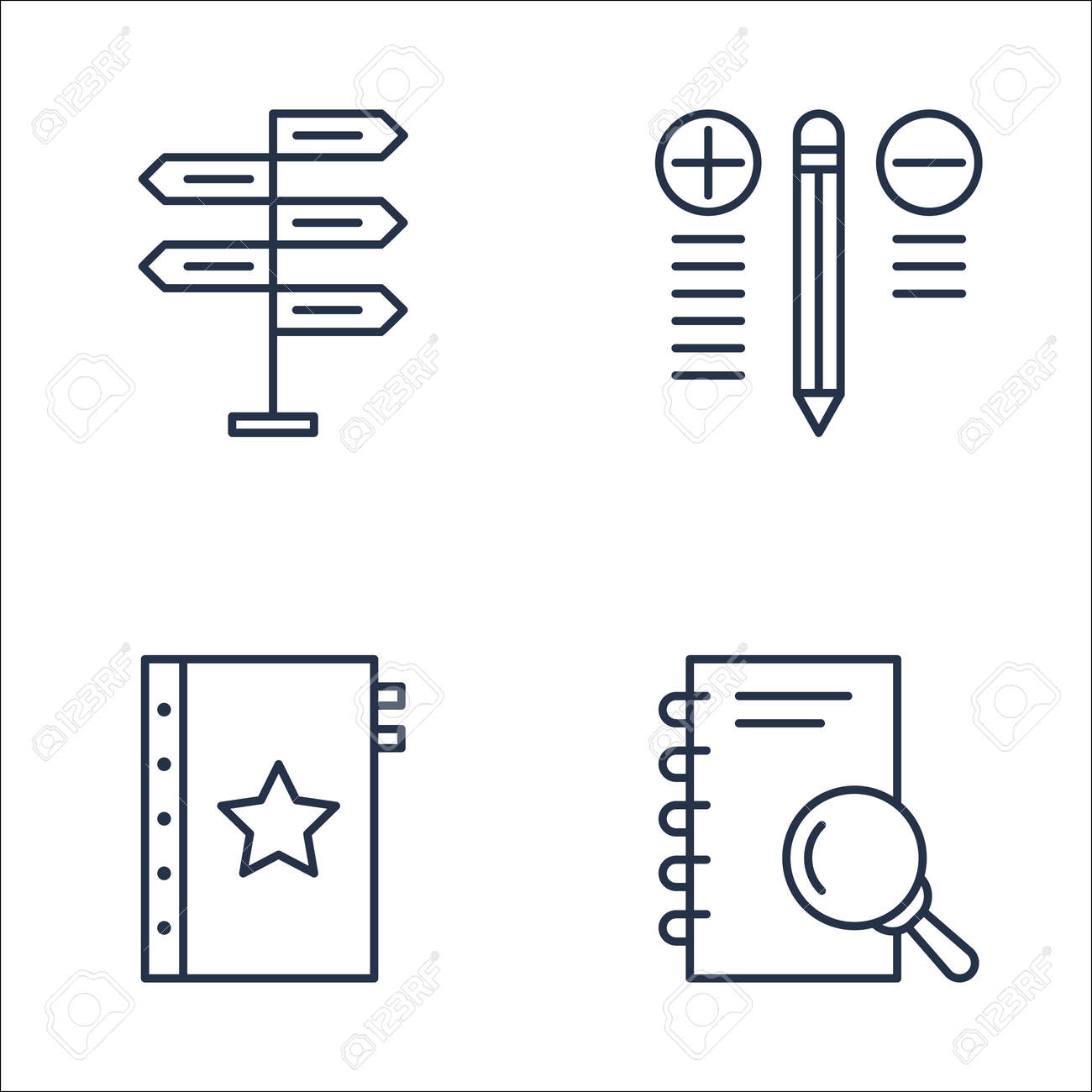 Set Of Project Management Icons On Research Best Solution Decision Royalty Free Cliparts Vectors And Stock Illustration Image 63919569