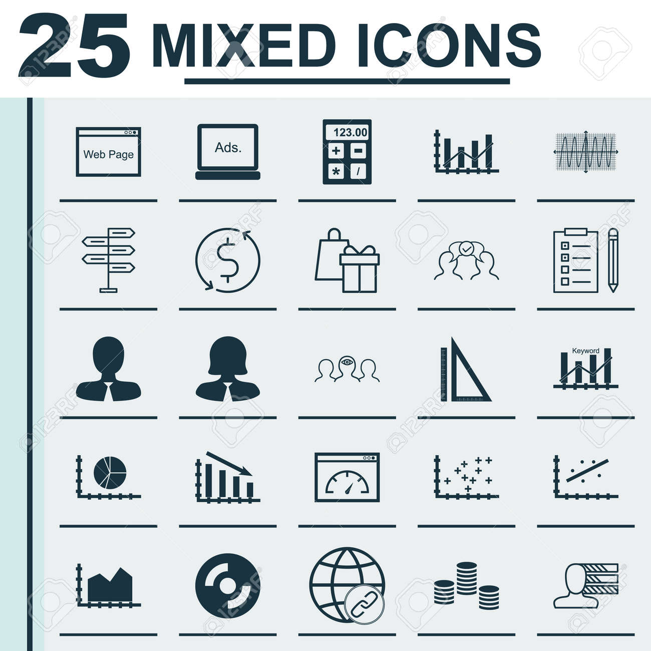 Set of 25 universal icons on plot diagram blank cd financial set of 25 universal icons on plot diagram blank cd financial and more topics ccuart Gallery