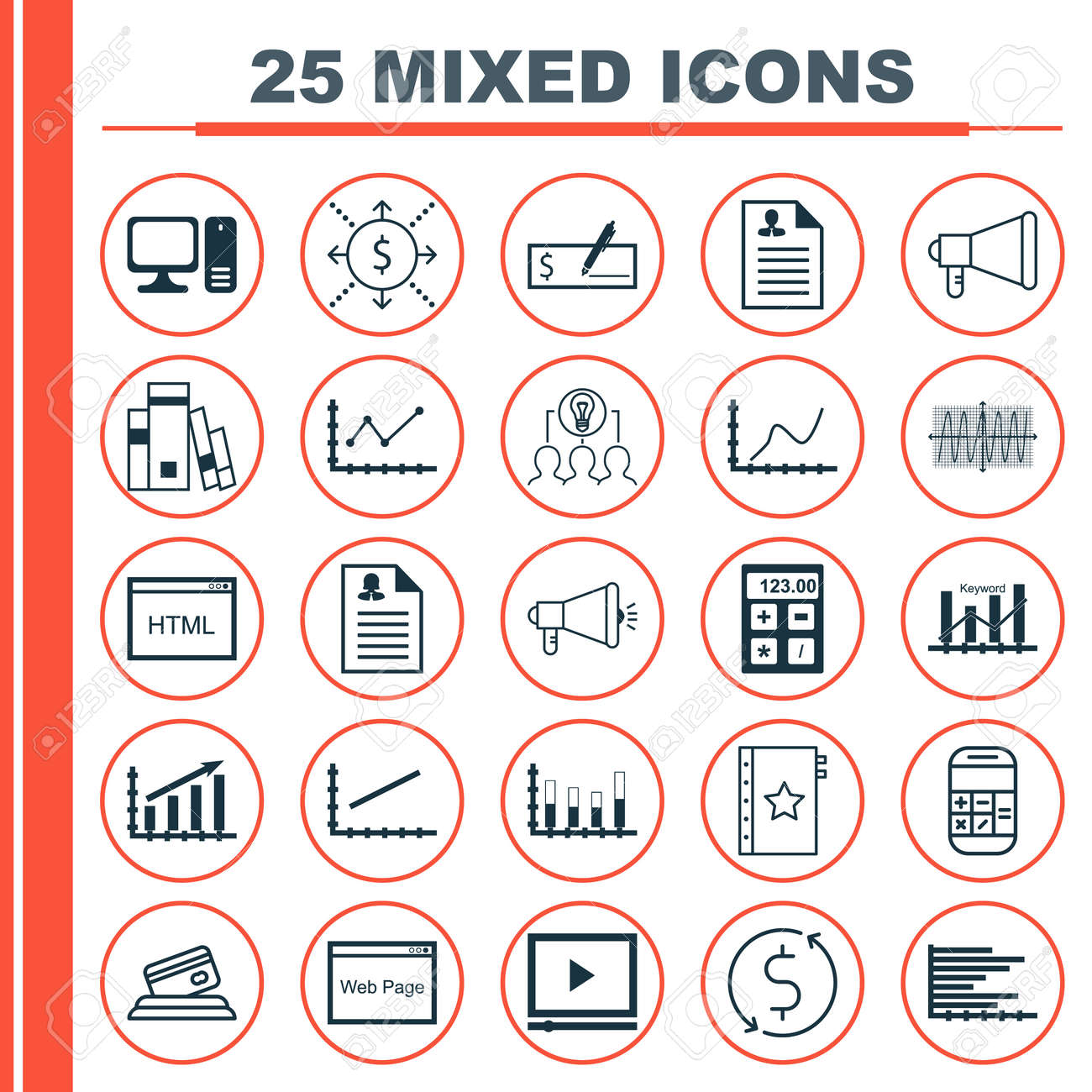 Set of 25 universal icons on library video player cosinus diagram set of 25 universal icons on library video player cosinus diagram and more topics ccuart Choice Image