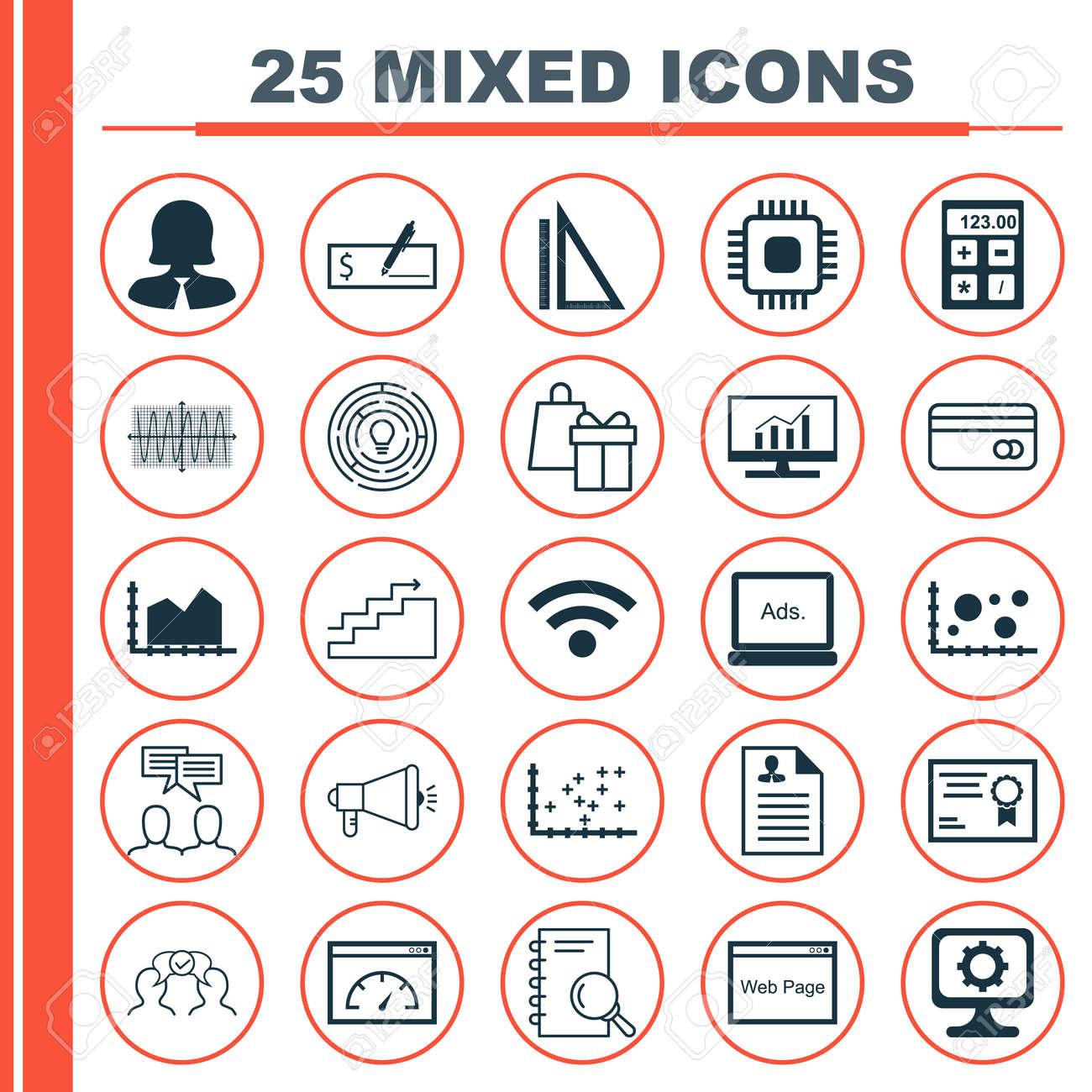 set von 25 universal icons fr die messung sinus grafik lebenslauf und weitere - Kurzer Lebenslauf