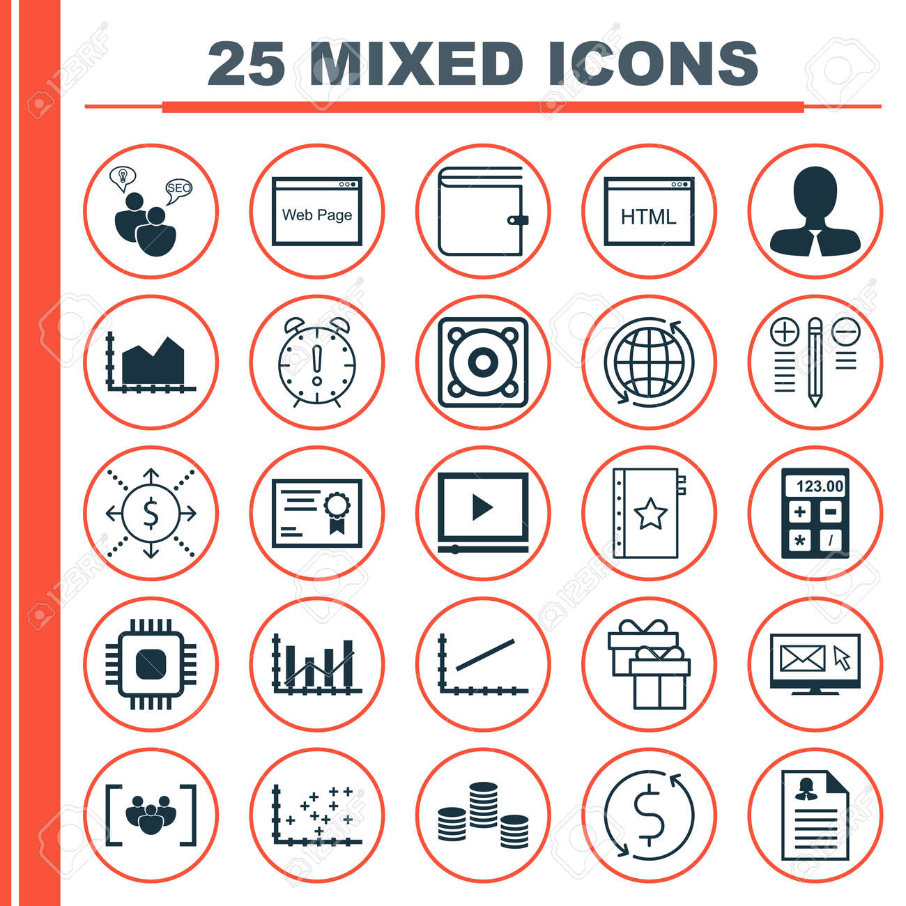 Set of 25 universal icons on female application sequence graphics banco de imagens set of 25 universal icons on female application sequence graphics plot diagram and more topics vector icon set including website ccuart Image collections