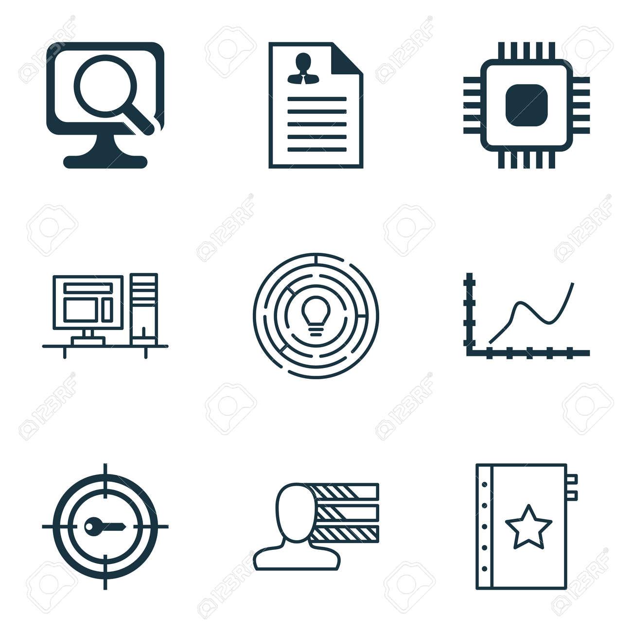 Conjunto De 9 Iconos Editables Universal De Recursos Humanos ...