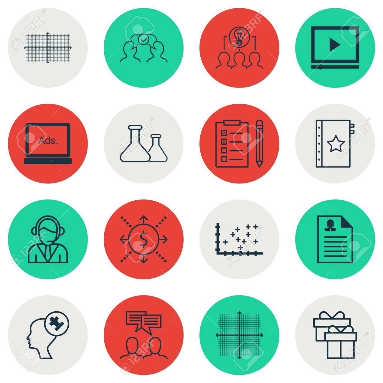 Conjunto De 16 Iconos Universales Editables Para Recursos Humanos ...