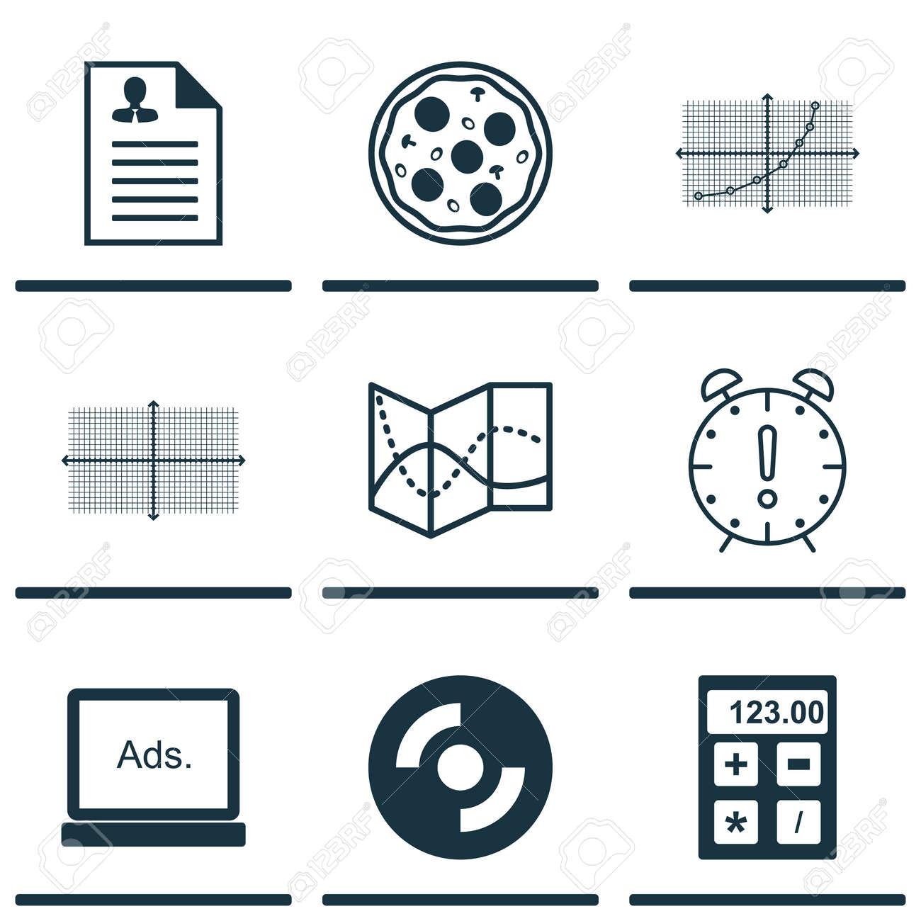 Conjunto De 9 Iconos Universales Editables. Se Puede Utilizar Para ...