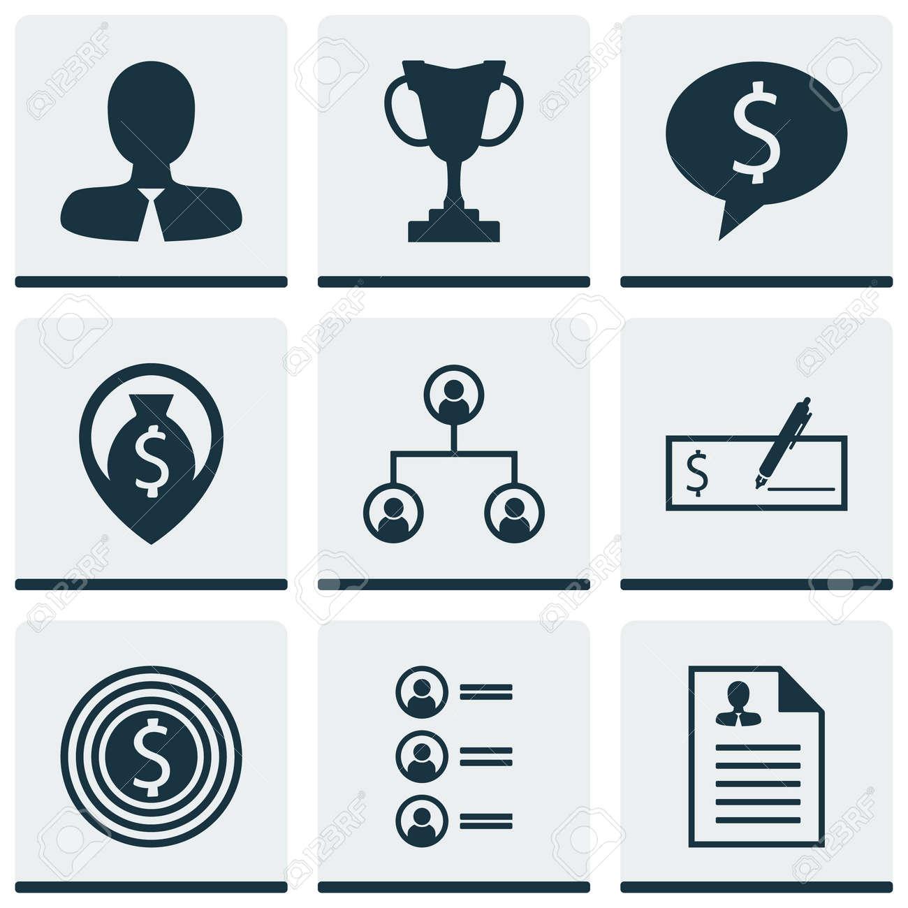 Conjunto De Iconos De Gesti³n De Pago Bancario Curriculum Vitae Y