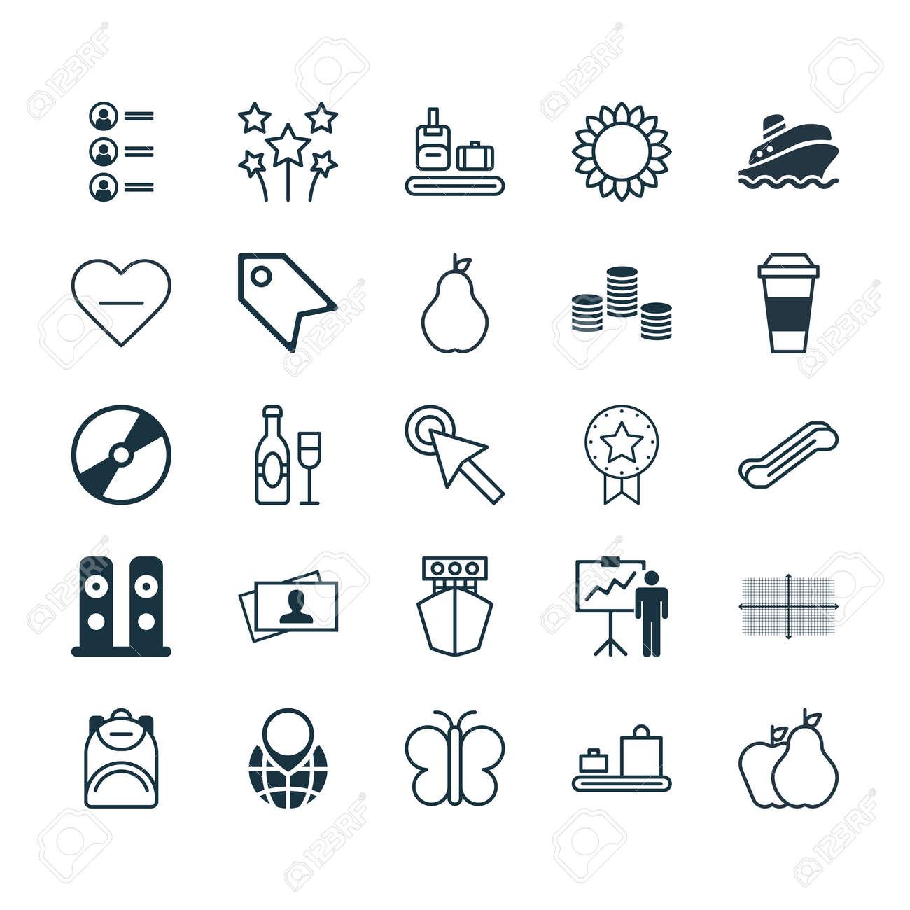 Conjunto De 25 Iconos Editables Universal. Se Puede Utilizar Para ...