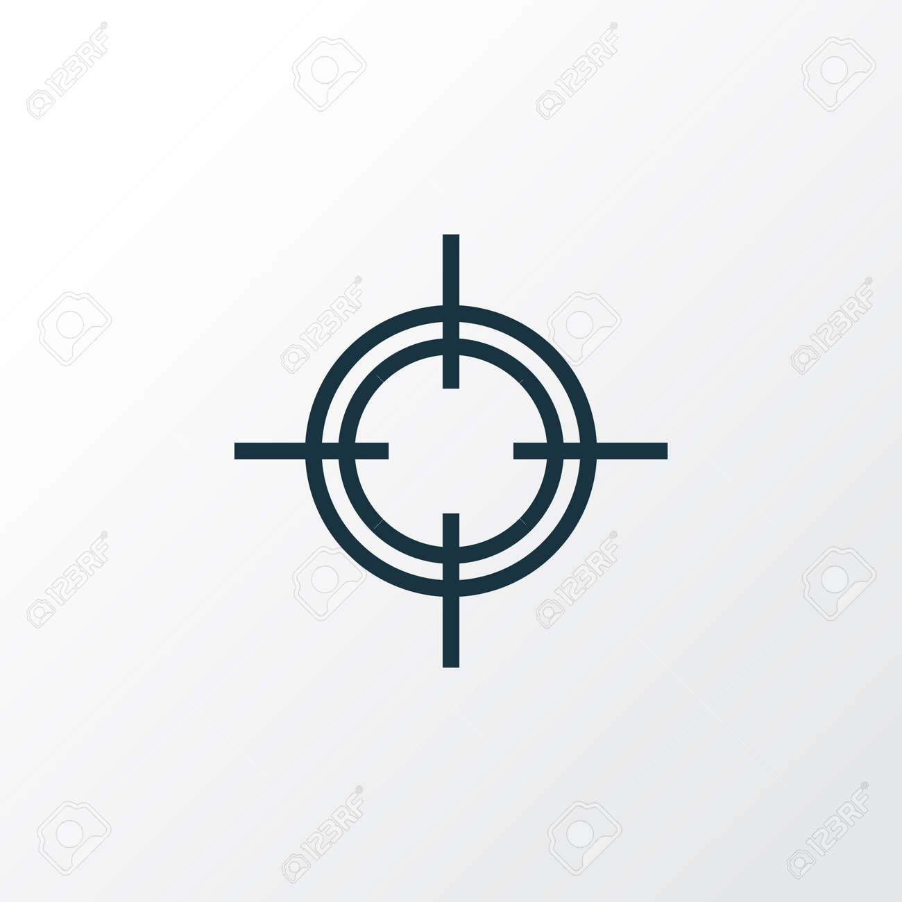 Sniper outline symbol premium quality isolated target element sniper outline symbol premium quality isolated target element in trendy style stock vector buycottarizona Image collections