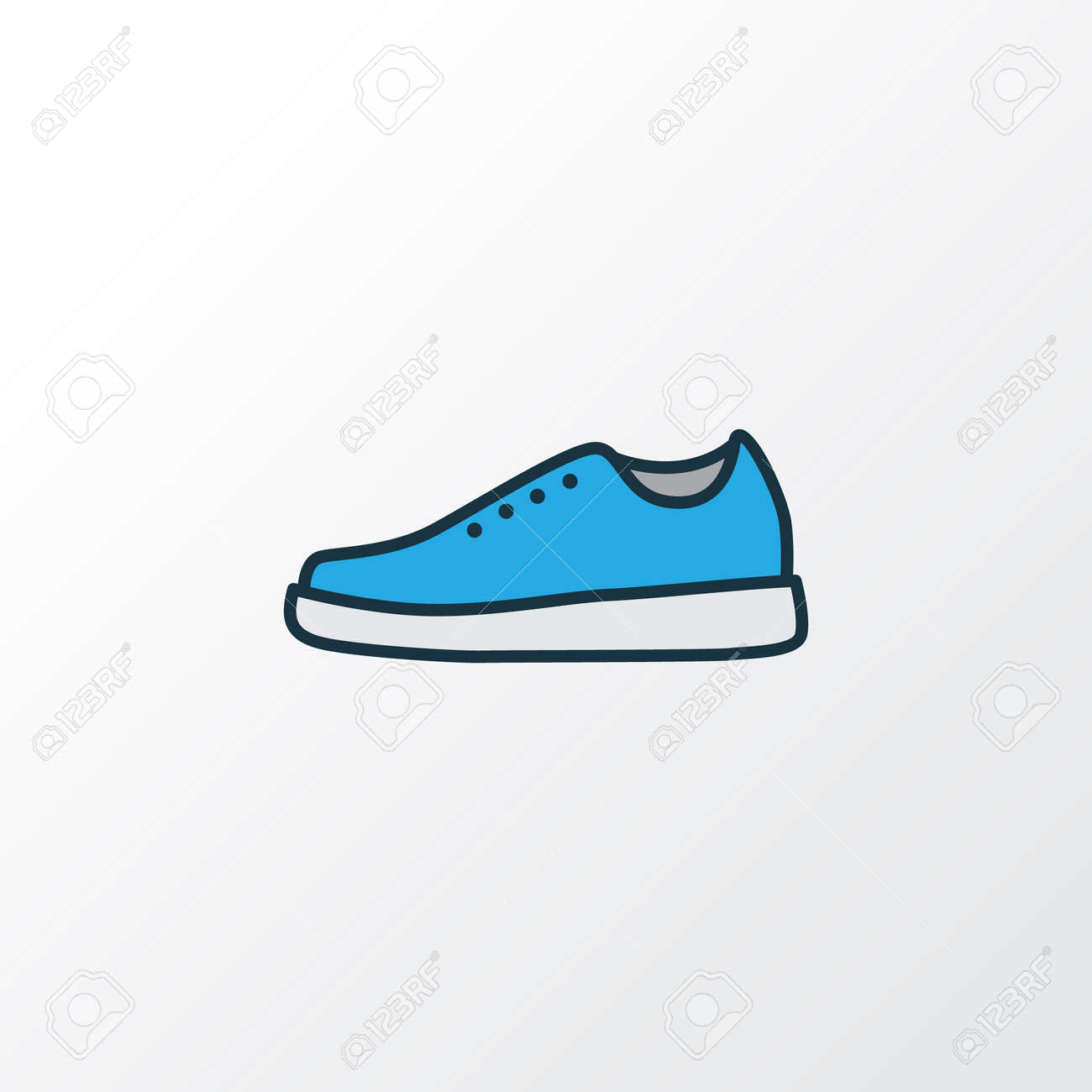 Gumshoes Colorful Outline Symbol Premium Quality Isolated Sneakers