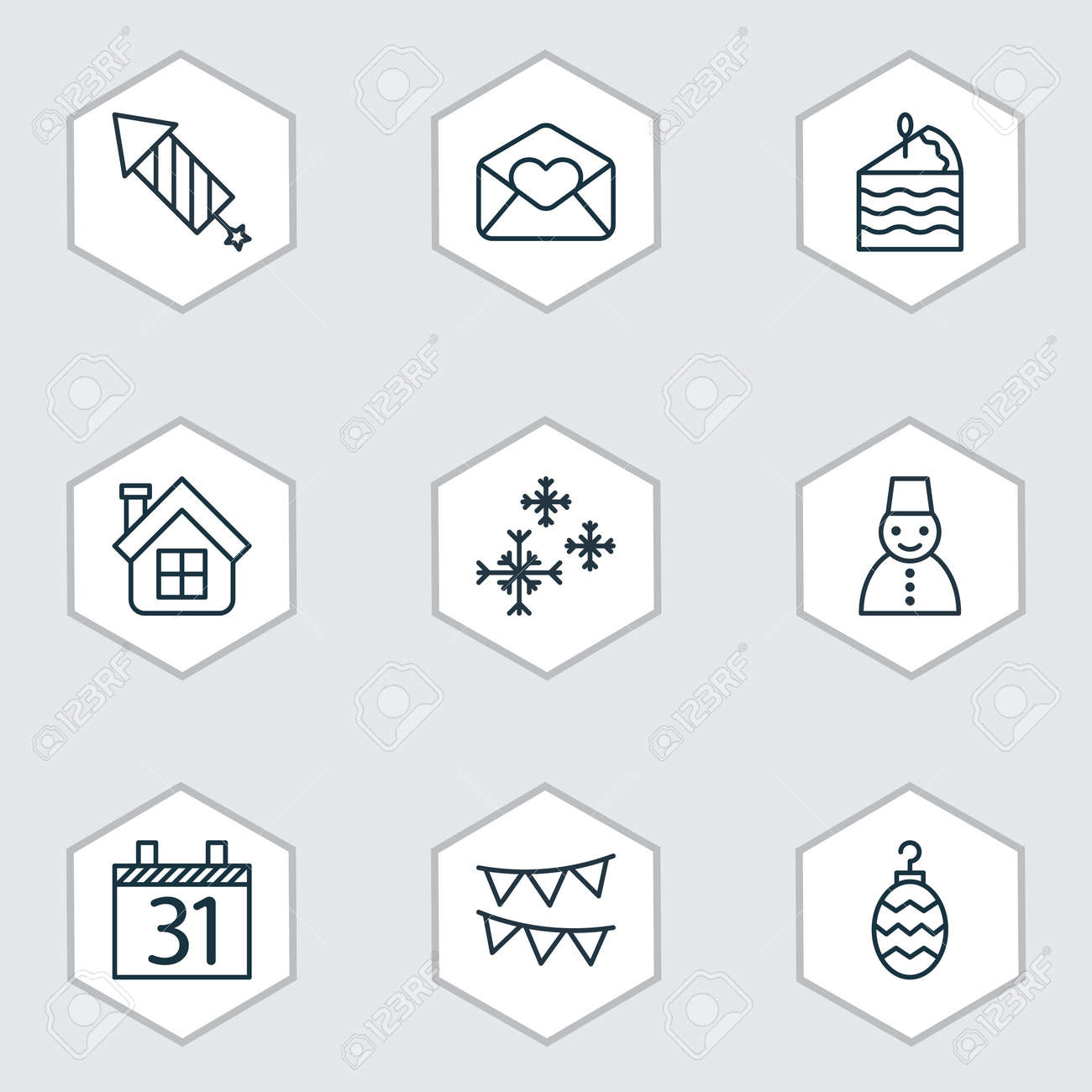 Set of 9 holiday icons includes date greeting email residential set of 9 holiday icons includes date greeting email residential and other symbols m4hsunfo
