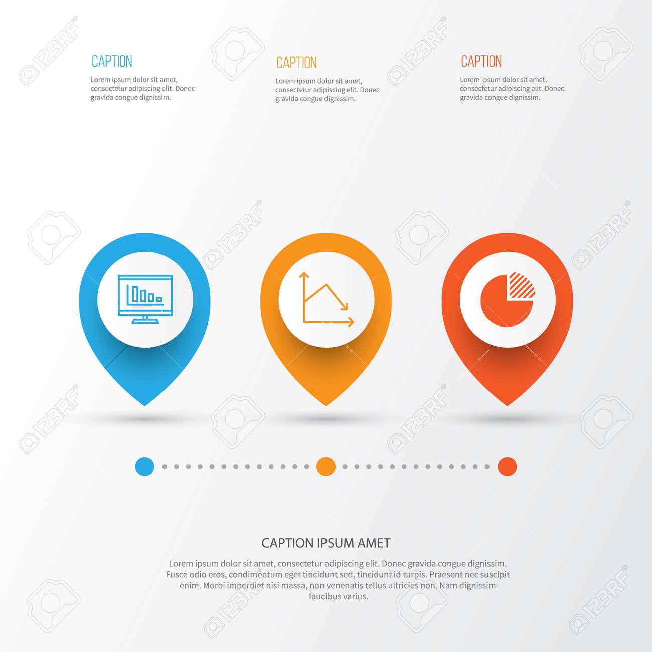Set Of Graphs Diagrams And Statistics Icons Premium Quality