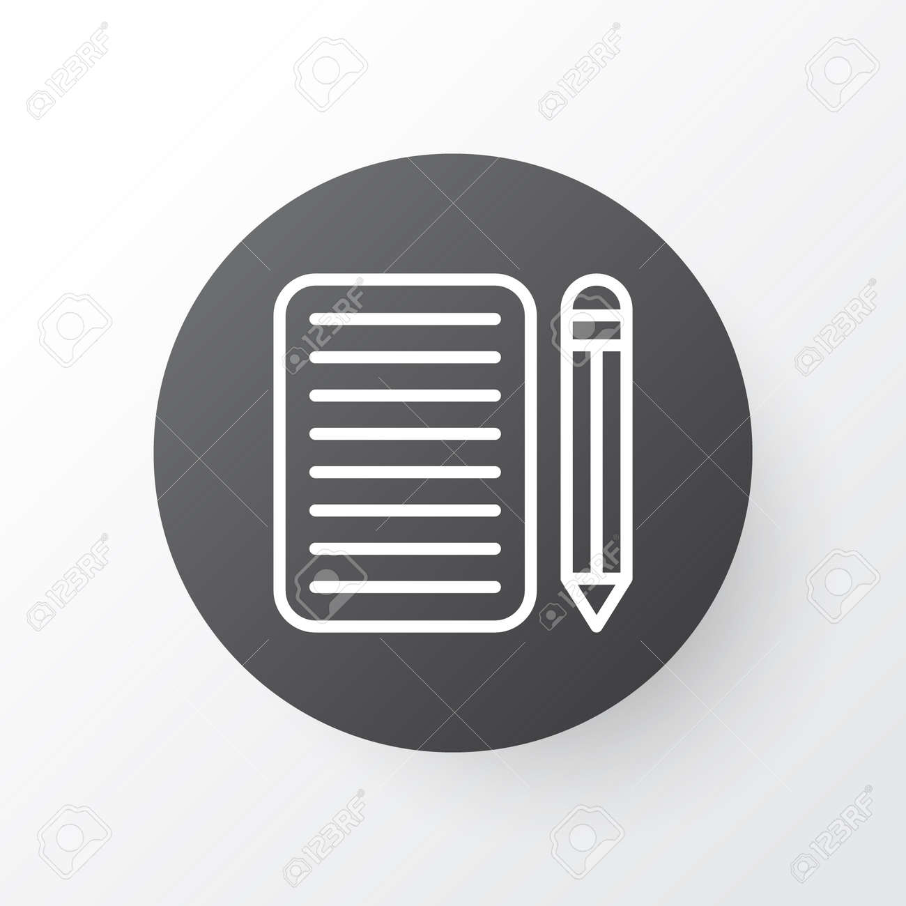 essay writing icon symbol premium quality isolated home work  essay writing icon symbol premium quality isolated home work element in trendy style stock