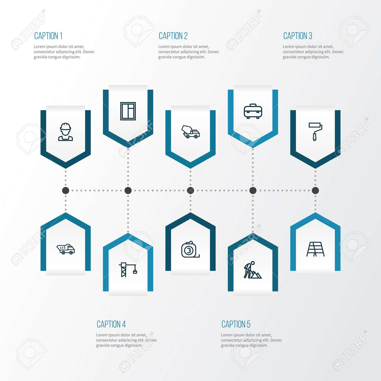 Architecture outline icons set collection of wall painter architecture outline icons set collection of wall painter construction works stepladder and other ccuart Choice Image
