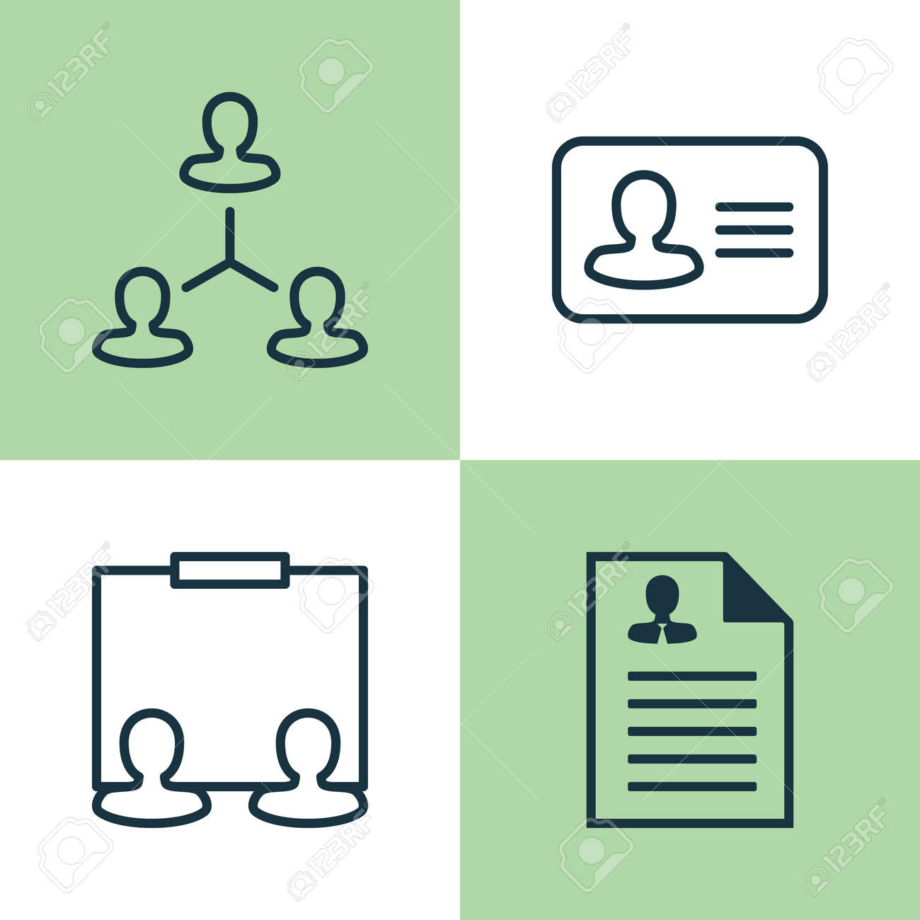 Hr Icons Set Collection Of Hierarchy Curriculum Vitae Personal