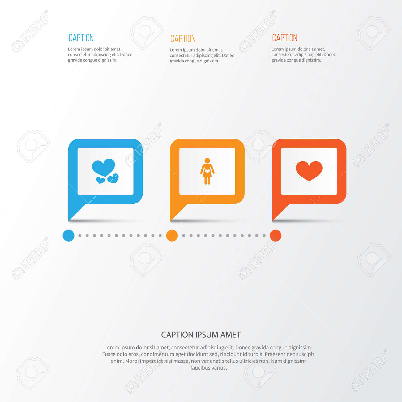Mothers Day Icon Design Concept Set Of 3 Such Elements As Pregnancy