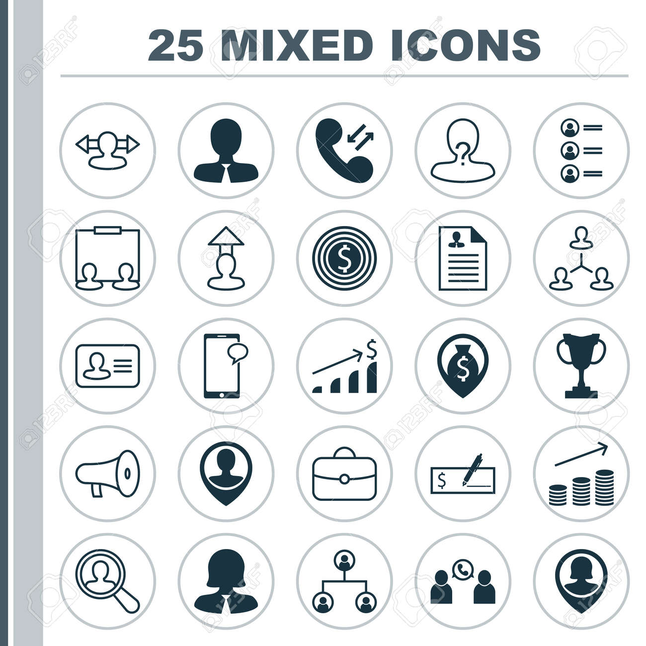 Hr Icons Set Collection Of Tournament Businesswoman Curriculum